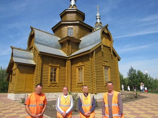 На территории храма Священномученика Игнатия Богоносца